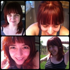 A collage of photos, because for the first day my hair looked a little different in every photo I took.